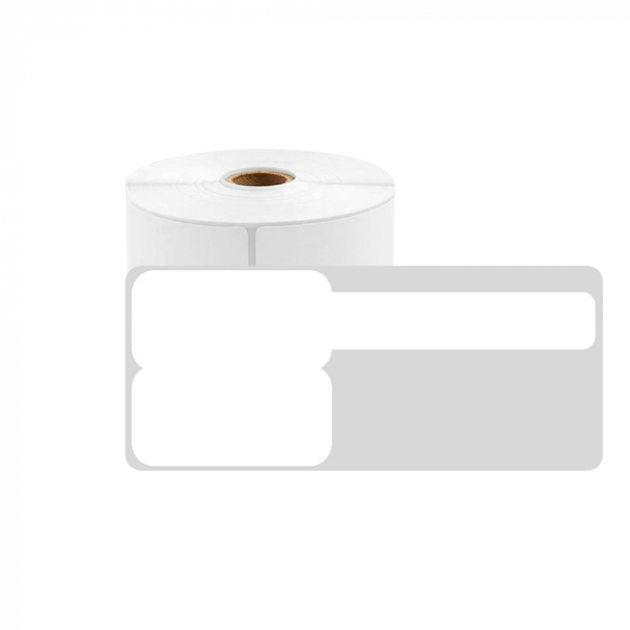 F-label tags for cables 25 x 30mm + 40mm, white, polypropilene, for printers M110/M200, 100 pcs/roll-big