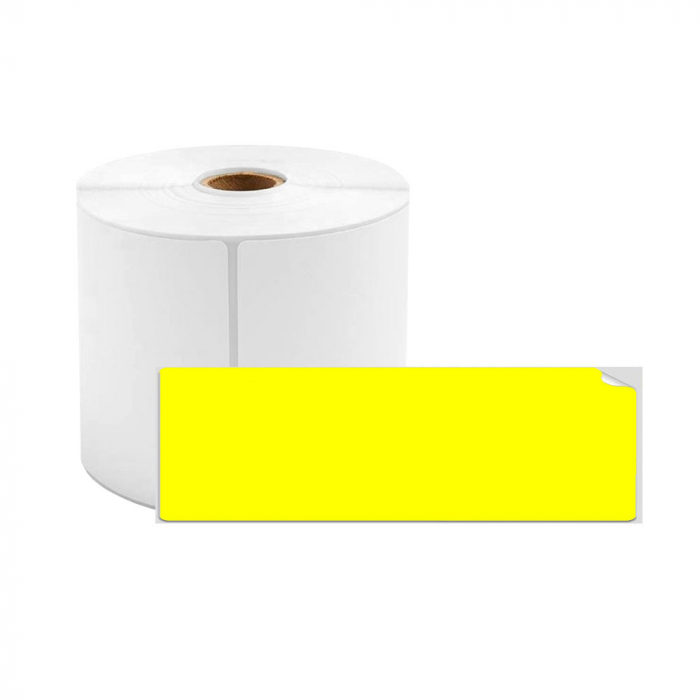 Etichete termice biblioraft 20 x 100 mm, plastic galben, permanente, 1 rola, 160 etichete/rola, pentru imprimanta M110 si M200-big