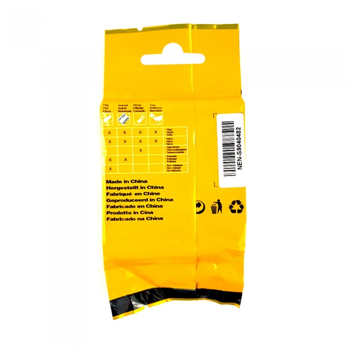 Industrial DYMO, Heat shrink tube compatible labels, 12mm x 1.5m, black on white, 18055 S0718300-C-big