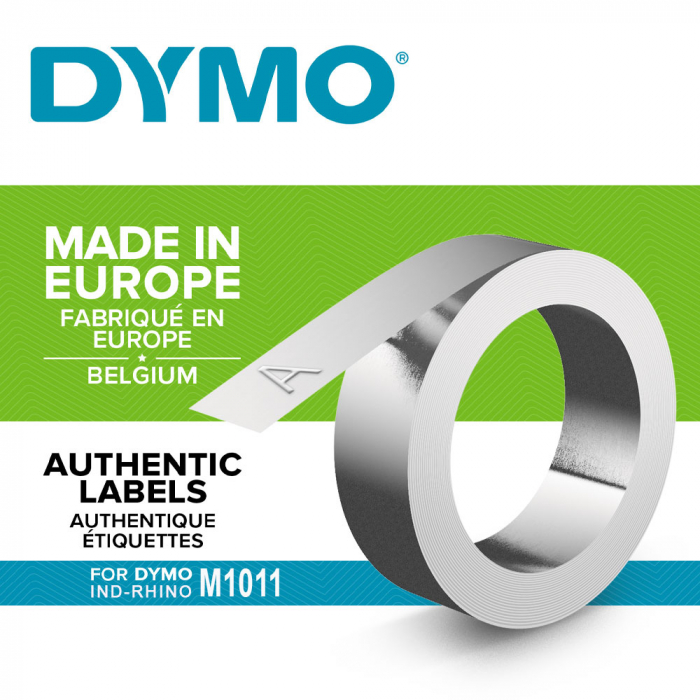 Industrial embossing labels DYMO, 12mmx3,65m, aluminum adhesive, 35800 S0720180-big