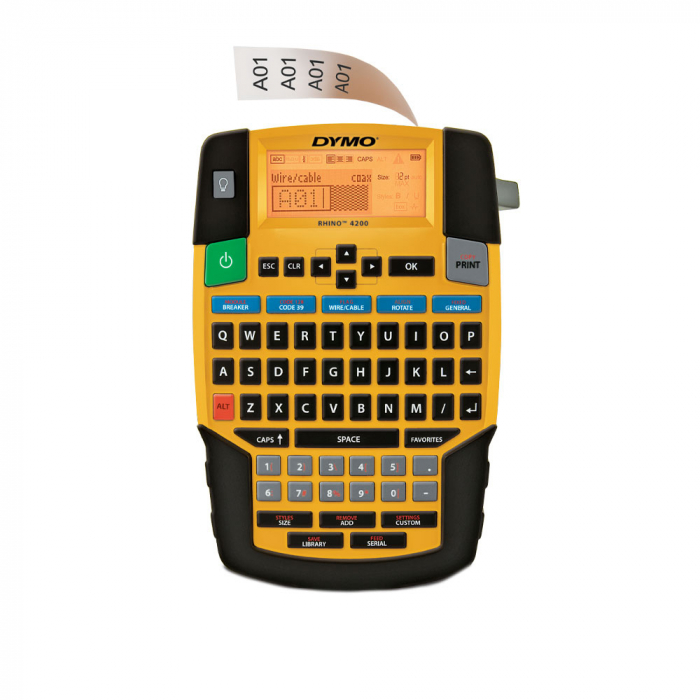 Aparat etichetat industrial Dymo Rhino 4200, QWERTY, 1801611-big