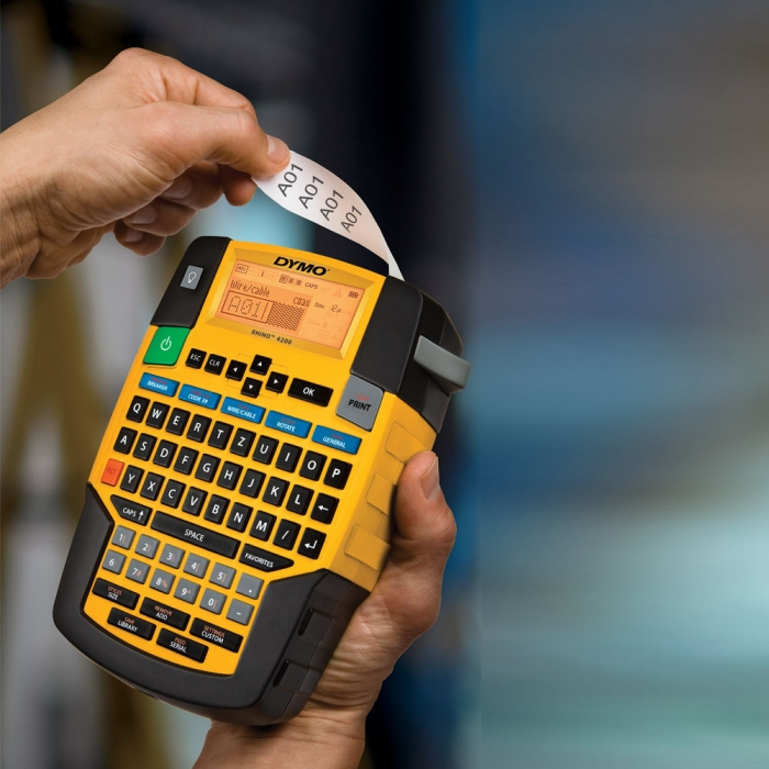 Industrial Label Maker Dymo Rhino 4200, QWERTZ, S0955970, 955970-big