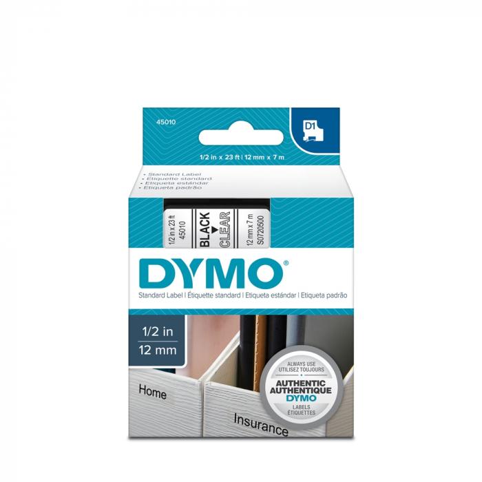 Aparat de etichetat LabelManager 360D QWERTY si 1 caseta etichete profesionale, 12 mmx7m, negru/transparent, S0879480, 45010-big