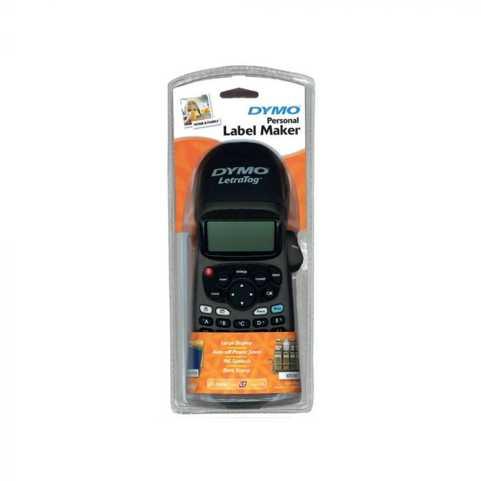 Etichetator/masina de etichete Dymo LetraTag Black Editie Limitata si 4 benzi originale Dymo, 2 x alb, galben si argintiu-big