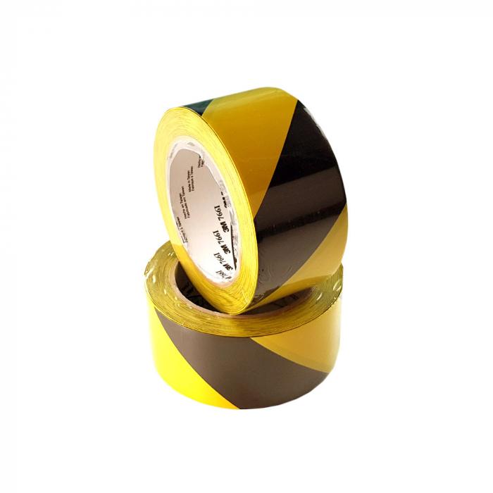 Banda marcare/protectie, 2 culori, 3M 766i vinil, galben/ negru, 50mm x 33m 70006299831-big
