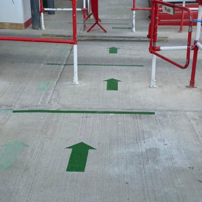 Banda marcare/protectie 3M 764i vinil verde, 50mm x 33m, marcare terenuri sport indoor, 70006299781-big