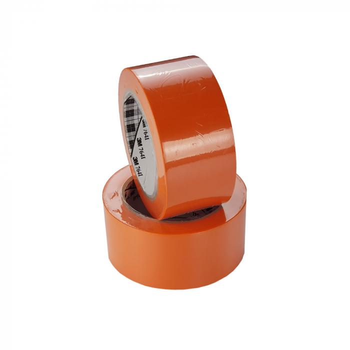 Banda marcare/protectie 3M 764i vinil orange, 50mm x 33m, marcare terenuri sport indoor, 70006299823-big