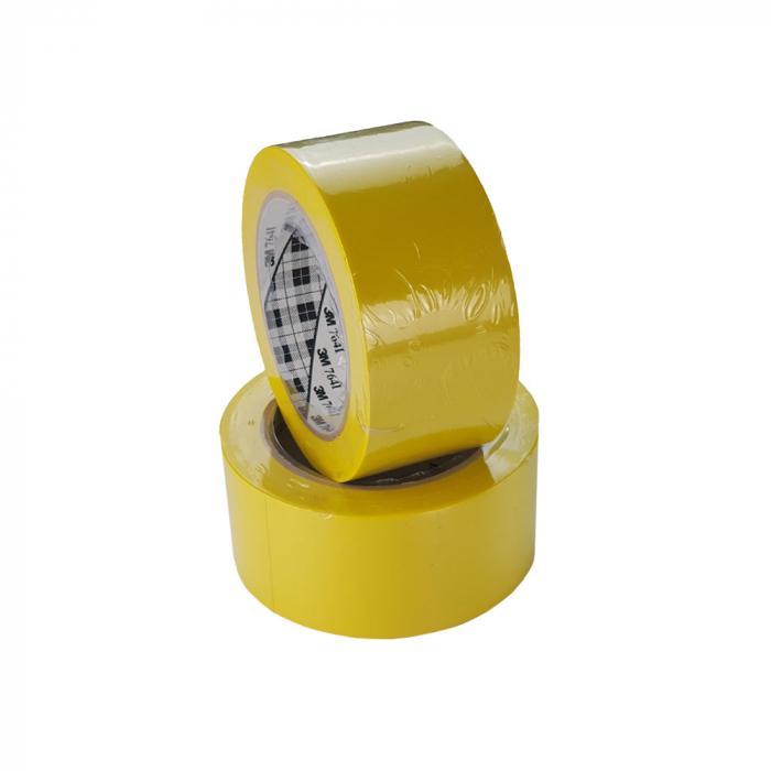 Banda marcare/protectie 3M 764i vinil galben, 50mm x 33m, marcare terenuri sport indoor, 70006299641-big