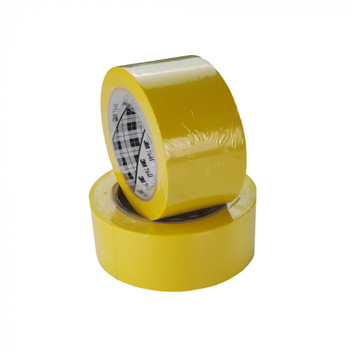 Banda marcare/protectie 3M vinil galben, 75mm x 33m, aplicatii generale si marcare spatii periculoase 70006299641-75-big