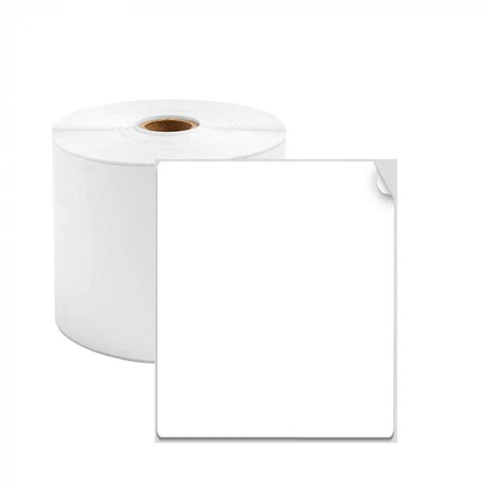 Etichete termice universale 40 x 70mm, plastic alb, permanente, 1 rola, 130 etichete/rola, pentru imprimanta M110 si M200-big