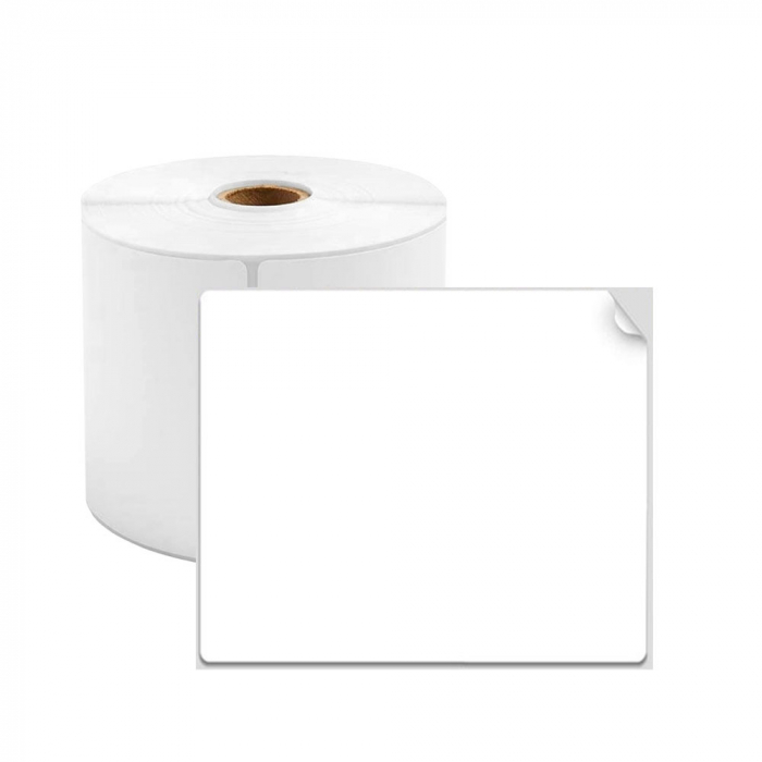 Etichete termice universale 60 x 80mm, plastic alb, permanente, 1 rola, 100 etichete/rola, pentru imprimanta AYMO M200-big