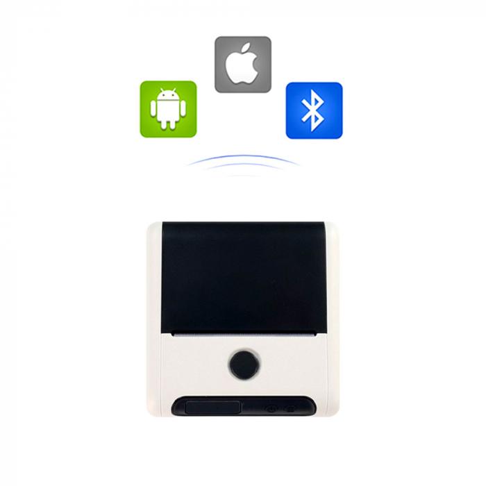 Imprimanta termica portabila multifunctionala M200 Bluetooth, aparat de etichetat pentru etichete format mare in rola, acumulator Li-Ion 2600 mAh, cablu date, rola suport etichete ajustabila-big
