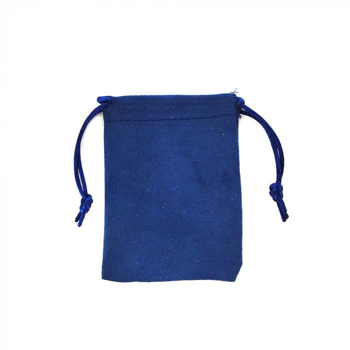 Saculet nabuc (imitatie piele) albastru 11cm x 8.5cm-big