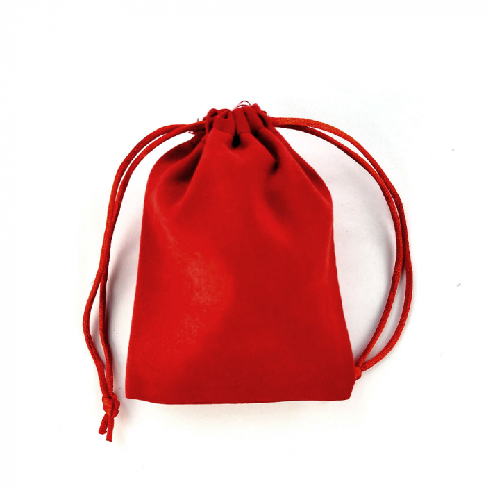 Saculet nabuc (imitatie piele) rosu 12cm x 9cm-big