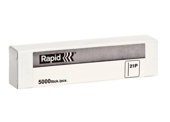 Pini Mini Rapid 21P/30mm, galvanizate, cap D0.8mm, 5.000/ cutie-big