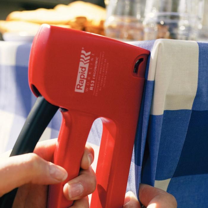 Set capsator tapiterie Rapid R53E, capse 53/4-10 mm, include 1068 capse Rapid 53 20443852-big