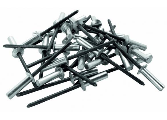 Popnituri Rapid etansare - diametrul de 4 mm x 12 mm, aluminiu, burghiu inclus, 50 buc/ blister-big