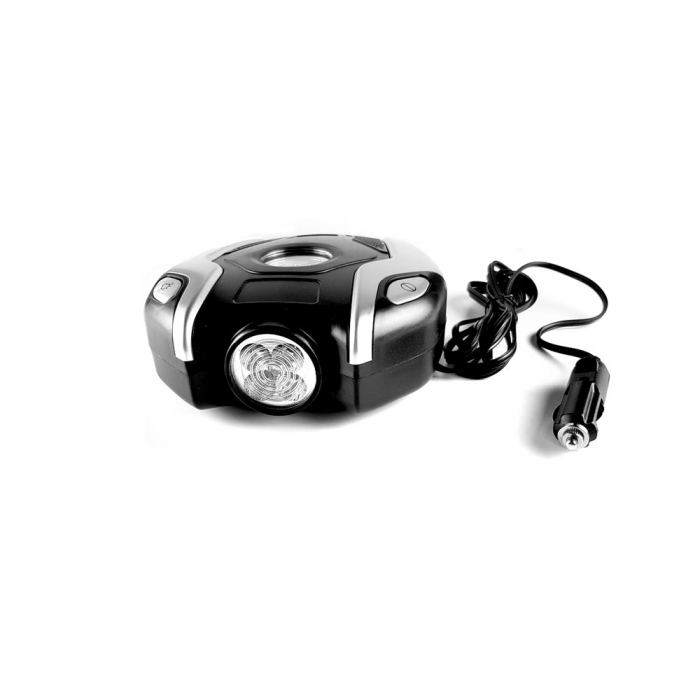 Mini Compresor portabil, 12V, 150psi, lumina urgenta, 3 in 1-big