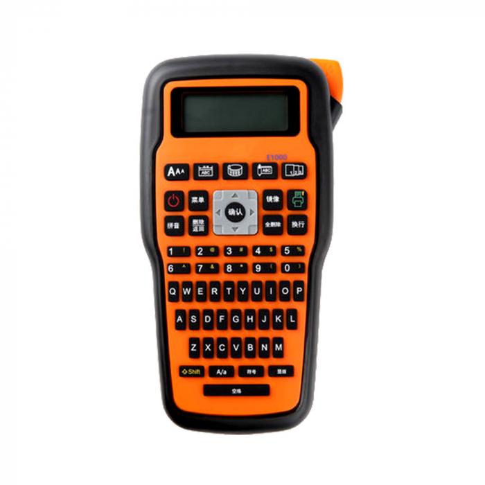 Aparat etichetat Sanco E1000 profesional portabil compatibil cu toate benzile Brother cu latime 6, 9, 12mm, incarcator la retea 230V-big