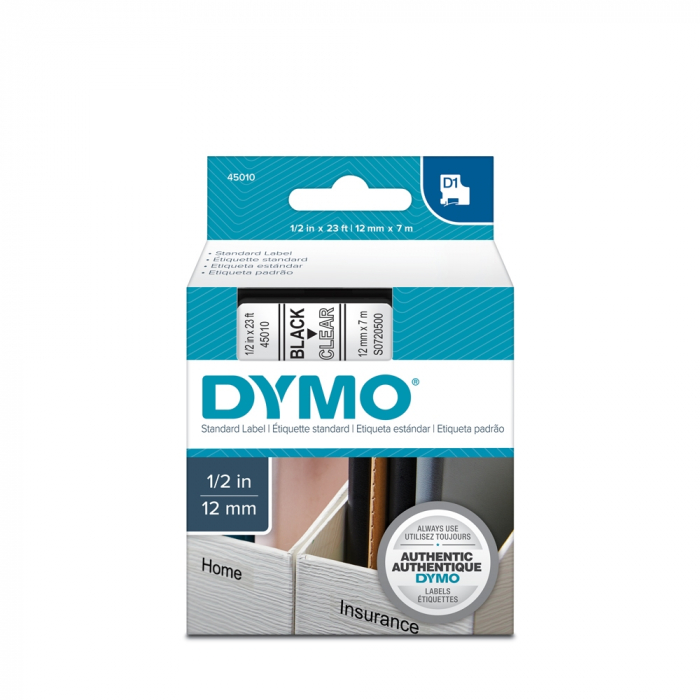 Professional labeling machine DYMO LabelManager 420P ABC and a professional labeling tape, 12mmx7m, black/clear, 45010 DY915440 S0915440-big