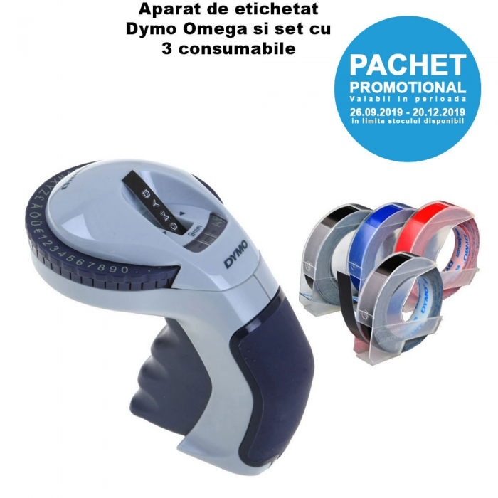 Promo Pack Dymo Omega Home Embossing Label Maker and 3D Plastic Embossing Labels-big