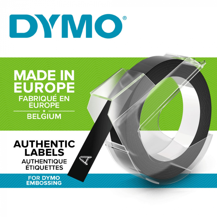 Aparat etichetat Dymo Omega si 4 role etichete 3D, embosabile, DY12748-big