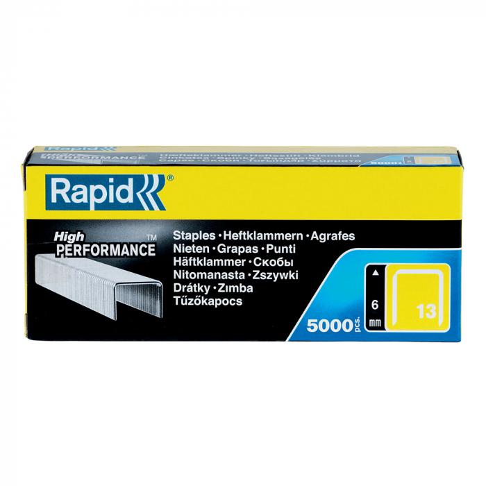 Capse Rapid 13/6 mm, galvanizate, sarma subtire, pentru tapiterie, 5.000/cutie 11830700-big