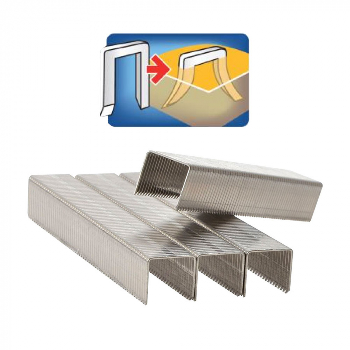 Capse Rapid 140/14 mm, galvanizate, divergente, High Performance, pentru ambalaje, 648 capse/blister 40109576-big