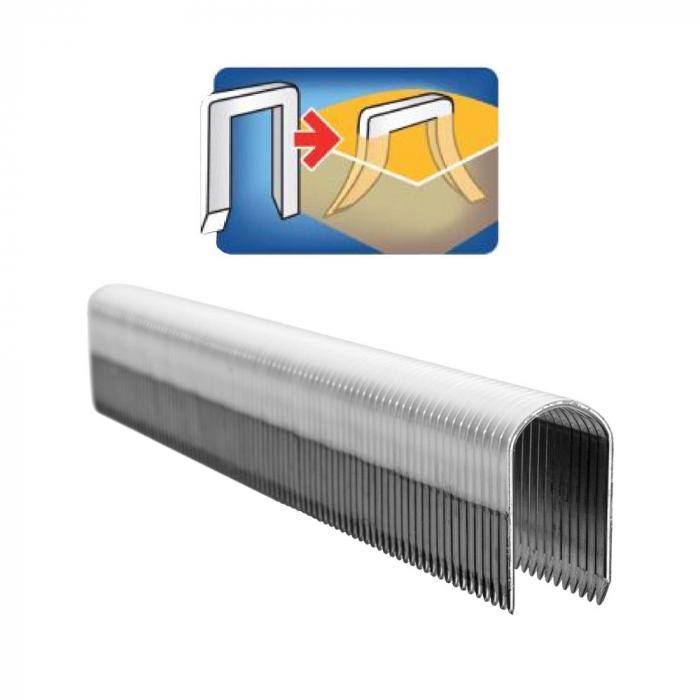 Capse Rapid 28/10 mm pentru cabluri, High Performance, galvanizate, semicirculare, divergente DP, 1000 capse/cutie 11893510-big