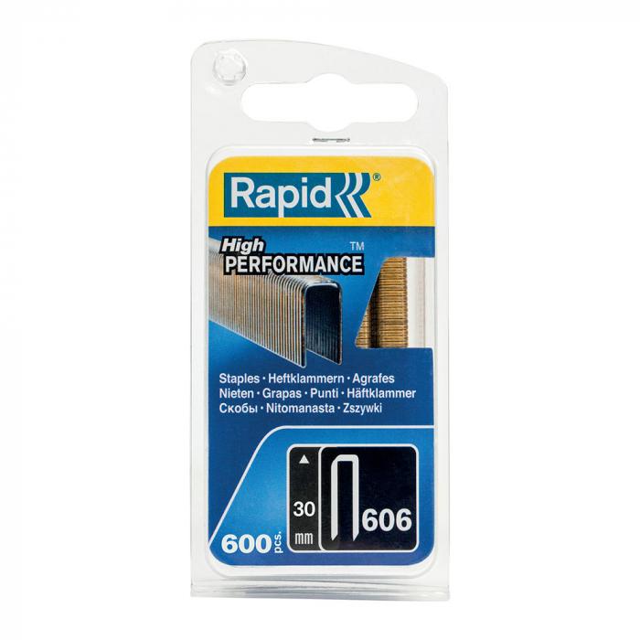 Capse cu coroana ingusta Rapid 606/30 mm, High Performance, acoperite cu rasina, 30mm, 600 capse/blister 40109532-big