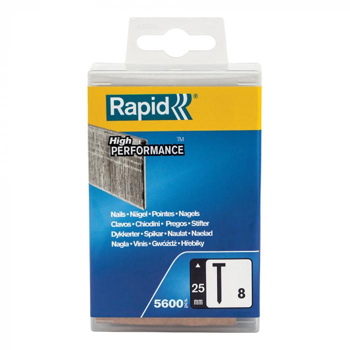 Cuie otel galvanizat Rapid 8/25, High Performance, 25mm, 5600 cuie/cutie plastic 5000183-big