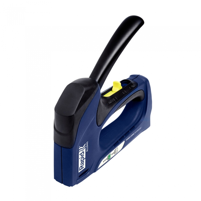 Capsator tacker Rapid ALU940 Dual, tehnologie Powercurve, reglare forta capsare, corp aluminiu, grip cauciuc, capse 140/6-14 mm, cuie 8/15, 3 ani garantie, fabricat in Suedia 5000519-big