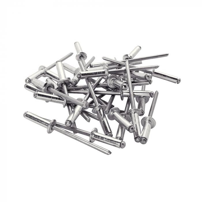 Rapid Automotive Rivet diameter 4.0mm x 12mm, aluminium, HSS metal drill bit included, 50 pcs/set 5000405-big