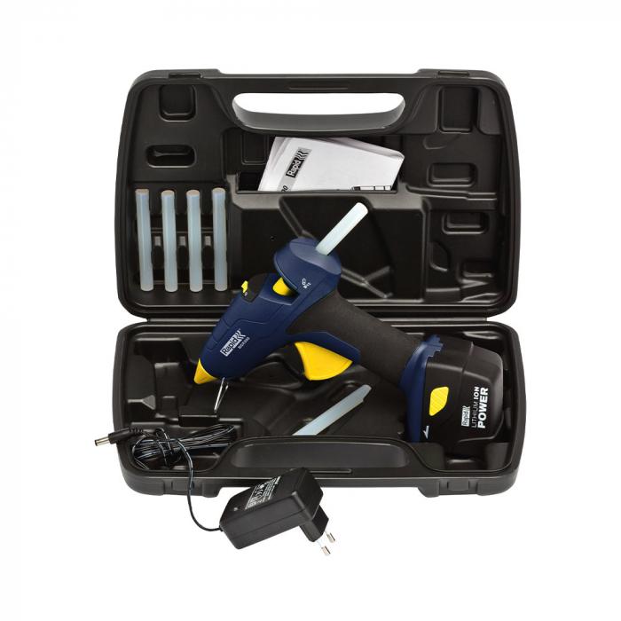 Pistol de lipit Rapid BGX300 cu acumulator Kit cu servieta, batoane silicon 12mm, 30W, debit 250 g/ora, acumulator Li-Ion inclus 40303073-big