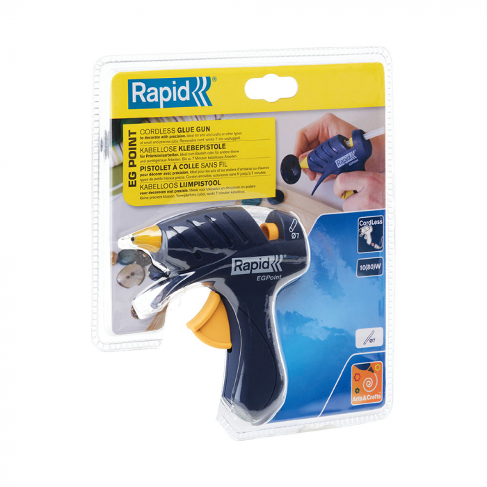 Pistol de lipit Rapid EG Point cordless, diametru 7mm, 80W, debit 80 g/h, 5000432-big