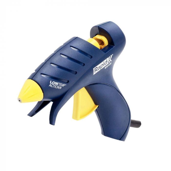 Pistol de lipit Rapid EG130 Temperatura Scazuta, batoane silicon Oval, 130⁰C, 100W, debit 80 g/h, 5000445-big