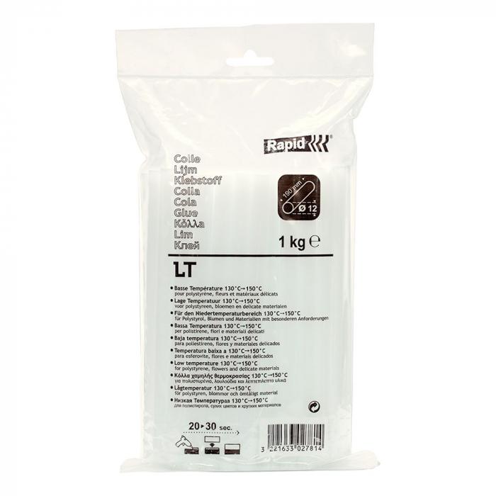 Batoane lipici Rapid Temperatura Scazuta 12mm x 190mm transparent, 1 kg/punga plastic 40302781-big