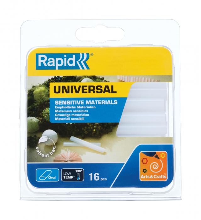 Batoane lipici Rapid Oval 9mmx94mm, universal, 125g, blister-big