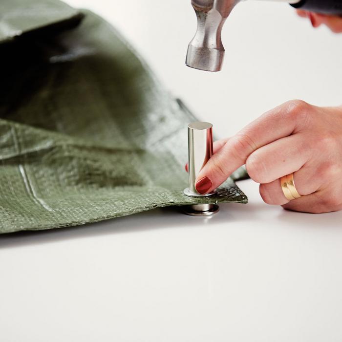Ocheti Rapid diametru 10mm, otel finisat argintiu, include sistem de fixare, 25 buc/set 5000412-big