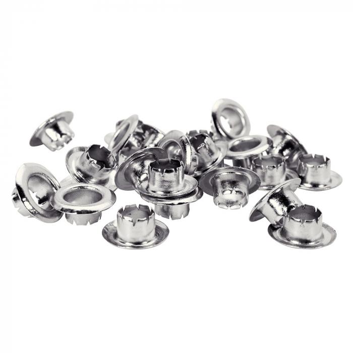 Ocheti Rapid diametru 6.0mm, otel finisat argintiu, include sistem de fixare, 25 buc/set 5000410-big