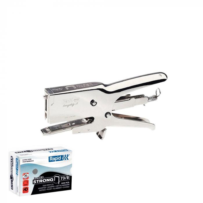 Capsator Cleste Rapid HD31 si o cutie de capse Rapid 73/8, Super Strong 5000 buc/cutie-big