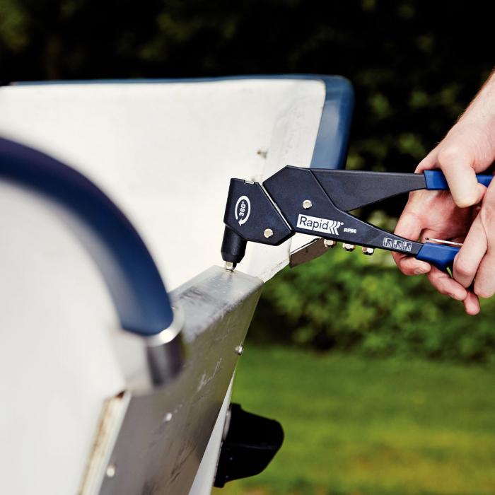 Nituri Rapid High Performance diametru 4.0mm x 18mm, aluminiu, burghiu metal HSS inclus, 50 buc/set 5000386-big