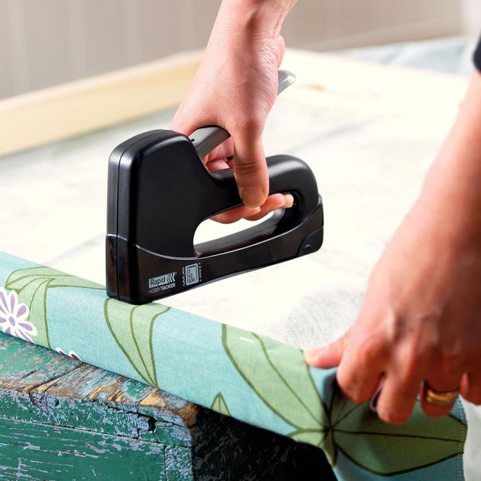 Capsator tacker Rapid Hobbytacker, tapiterie, capse 53/6-8 mm, 2 ani garantie 23785100-big