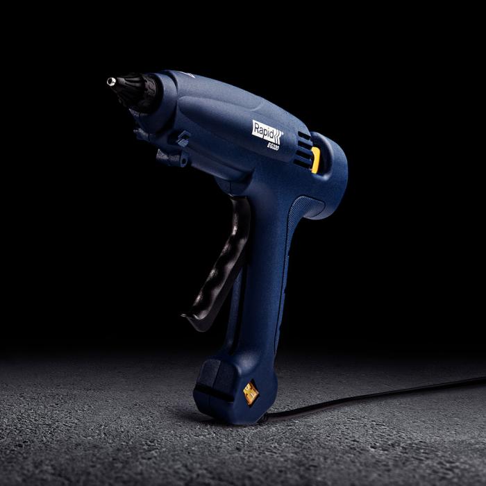 Pistol de lipit Rapid EG320 PRO multi-functional, baton lipici 12 mm diametru, putere 120W, temperatura lucru auto reglabila 195°C, debit lipici 1000 g/h,  actionare tragaci cu 4 degete, 5000326-big