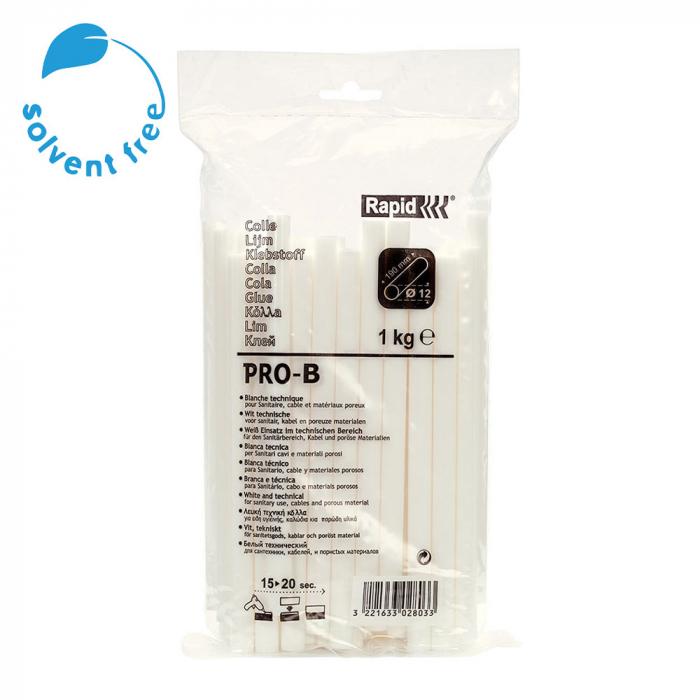 Baton silicon Rapid PRO-B Sanitar si Cabluri, alb, Ø12mm x 190mm, baza EVA, 1 kg/pachet 40302803-big