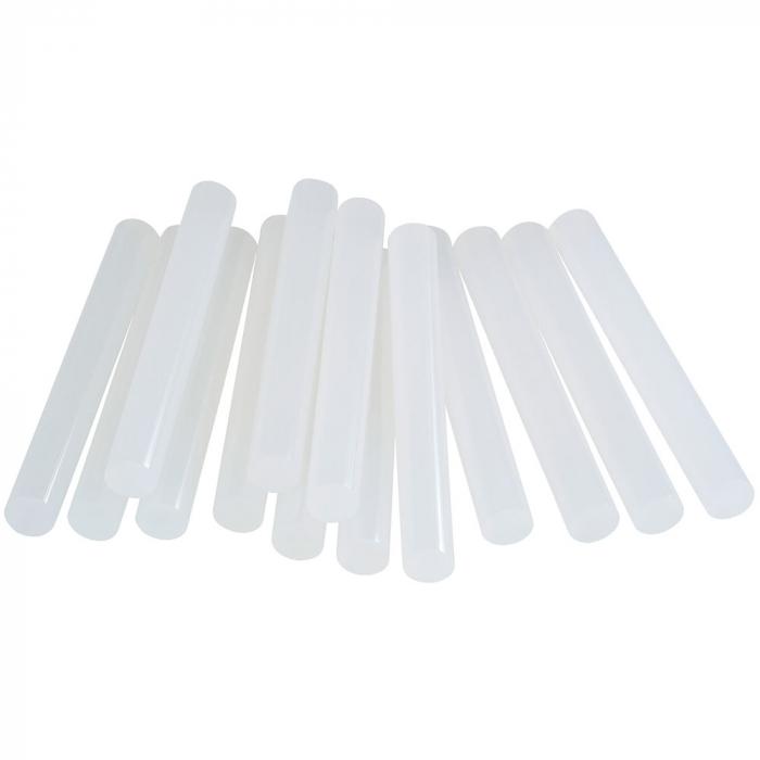 Baton silicon profesional Rapid PVC, Cabluri si Plastic, fixare si reparatii, transparent, Ø12mm x 94mm, baza EVA, 14 buc/blister 5000695-big