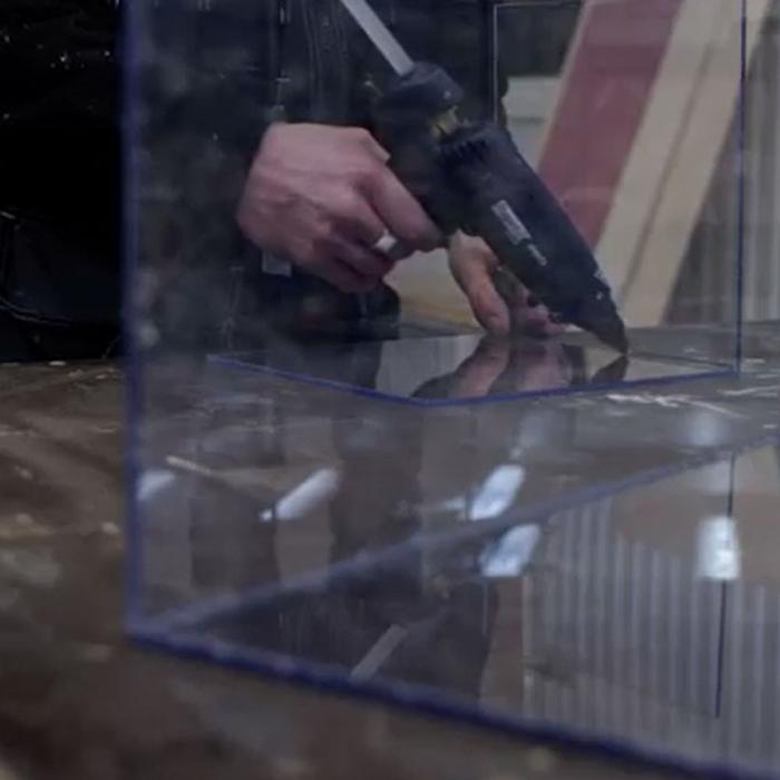 Baton silicon profesional Rapid Universal transparent, Ø12mm x 190mm, baza EVA, 48 buc/cutie 5001411-big