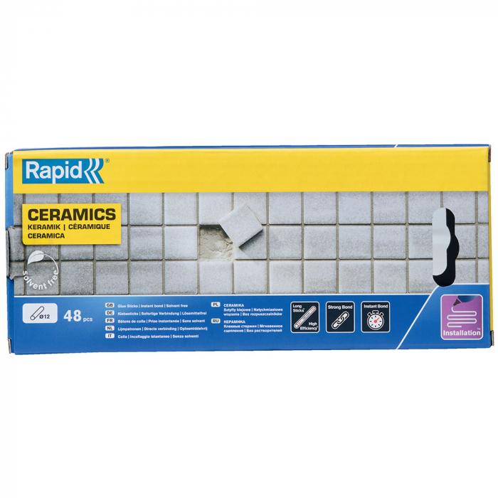 Baton silicon profesional Rapid Ceramica poroasa, alb, Ø12mm x 190mm, baza EVA, 48 buc/cutie 5001415-big