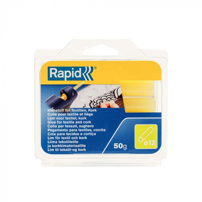 Baton silicon profesional Rapid Piele intoarsa, Textile, galben, Ø12mm x 94mm, baza EVA, 50g/blister 40107353-big