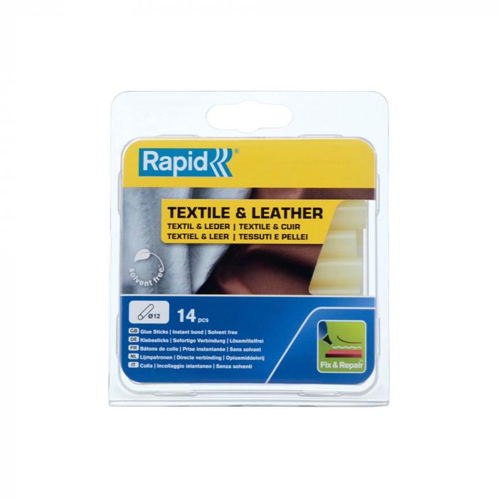 Baton silicon profesional Rapid Piele, Textile, galben, Ø12mm x 94mm, baza EVA, 14 buc/blister 5001416-big